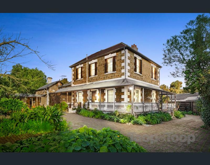 A front exterior view of the Adelaide mansion for sale. (Image: realestate.com.au/Toop & Toop)