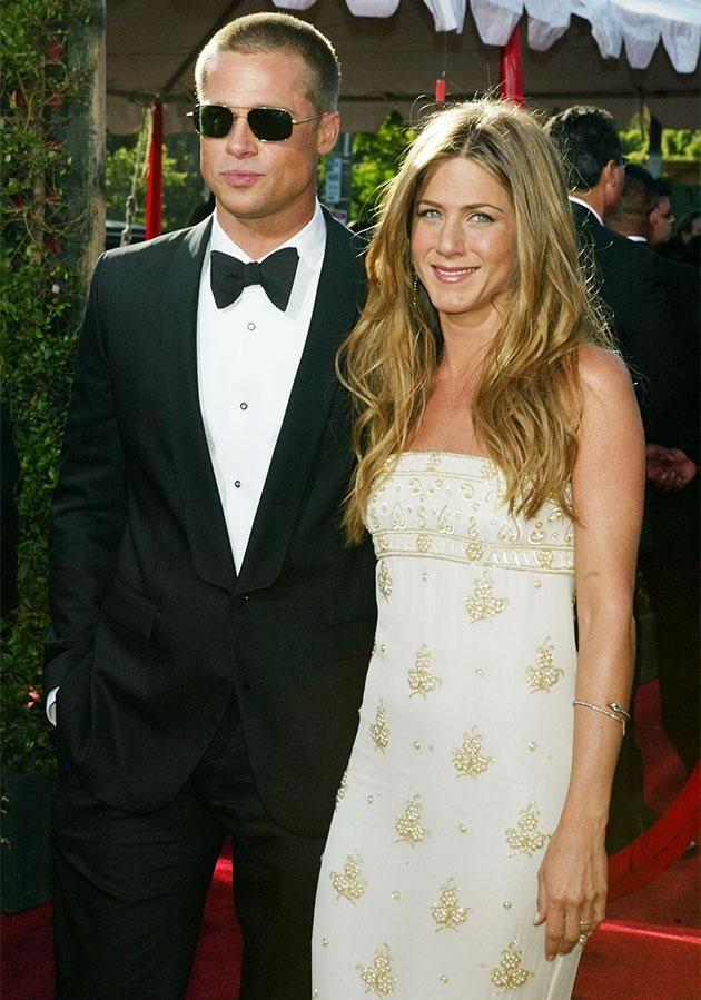 Brad and Jen in happier times. Photo: Getty Images