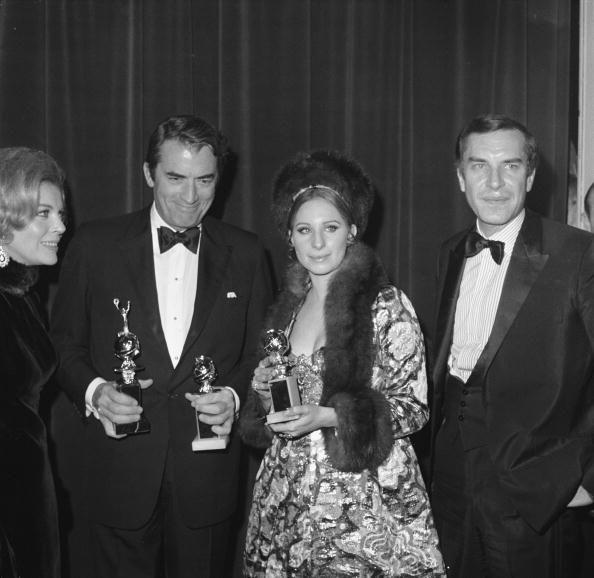 <p>The best dressed star at the 1969 Golden Globes was Barbara Streisand, who showed up in an elegant sequined A-Line gown with a matching jacket complete with fur trimmings—and a matching hat! </p>
