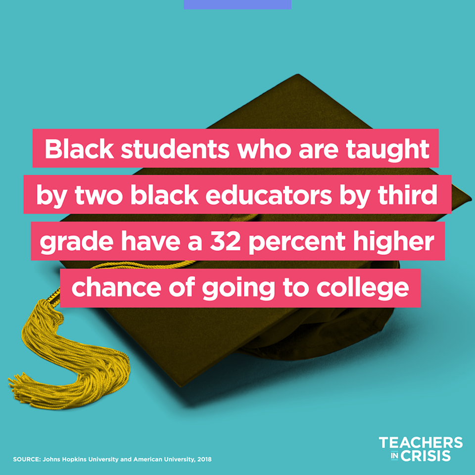While 16 percent of public school students are black, the teaching field remains overwhelmingly white. Black educators open up about the pressure this places on them each day. (Photo Illustration: Quinn Lemmers/Yahoo Lifestyle)