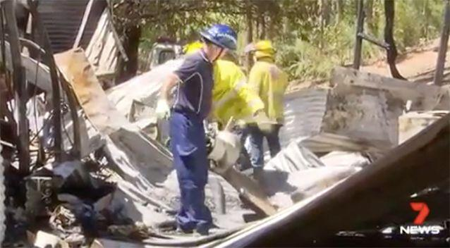 Crews worked to clean up the mess. Source: 7 News