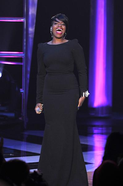 FILE - This Nov. 8, 2012 file photo shows singer Fantasia performing at the Soul Train Awards at Planet Hollywood Resort and Casino in Las Vegas. The 2013 Super Bowl Gospel Celebration will feature performances by Fantasia, Donnie McClurkin, Marvin Winans and Bishop Paul S. Morton of New Orleans. (Photo by Jeff Bottari/Invision/AP, file)