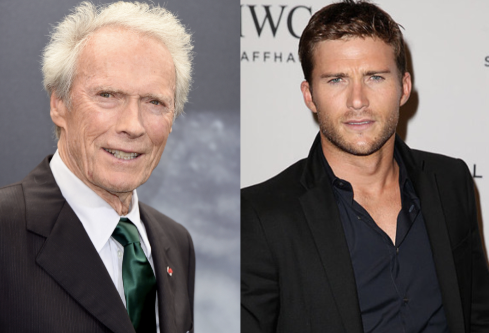 The eyes have it for the legendary film star and his actor son.<em> (Images via Getty Images)</em>