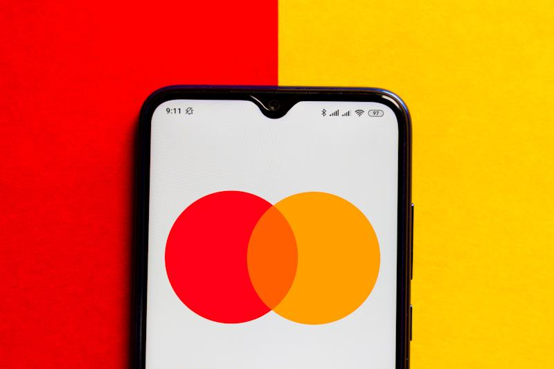 In this photo illustration the Mastercard logo is displayed on a smartphone. Photo: Rafael Henrique/SOPA Images/LightRocket via Getty Images