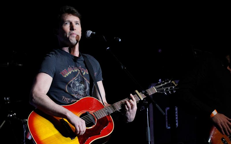 James Blunt performs on stage during the 'La noche de Cadena 100' concert held at the Sports Palace in Madrid, Spain - Credit: EFE
