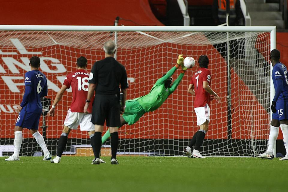 Chelsea goalkeeper Edouard Mendy was the star of the show in a dour goalless draw against Manchester United (PA)