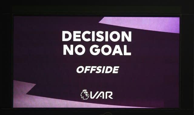 Willy Boly's goal was controversially disallowed by VAR (Nick Potts/PA)
