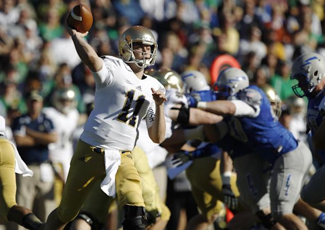 Rees playing well as Notre Dame prepares for Navy
