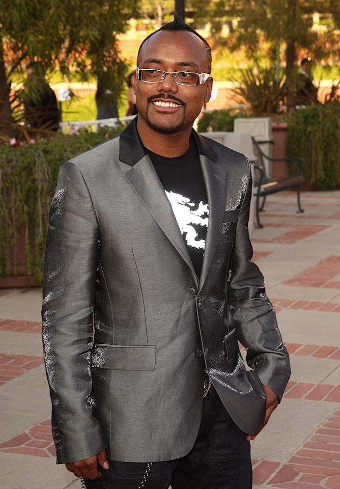 "apl.de.ap rocks the faux-hawk and square-framed glasses. The Black Eyed Pea is of Filipino and African American heritage. Jason Merritt/<a href=""http://www.filmmagic.com/"" target=""new"">FilmMagic.com</a> - April 23, 2008"