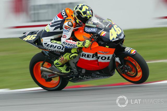 "2003. Valentino Rossi <span class=""copyright"">Gold and Goose / Motorsport Images</span>"
