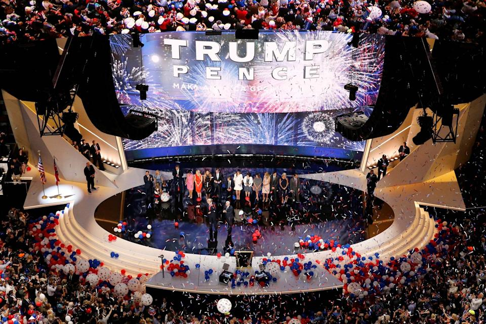 A previous Republican National Convention in Cleveland, Ohio, in 2016 (REUTERS)