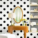 """<div class=""""caption-credit""""> Photo by: Martha Stewart</div><div class=""""caption-title"""">Classic Black Dots</div>Classic and preppy, these chic black polka dots are crazy fun for a bathroom or kitchen! I just love how clean-cut this look is."""