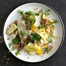 """Quinoa and walnuts (or a grain and nut of your choosing) add heft to this pretty salad. No leafy greens means it packs well. <a href=""""https://www.epicurious.com/recipes/food/views/summer-squash-and-red-quinoa-salad-with-walnuts-51108080?mbid=synd_yahoo_rss"""" rel=""""nofollow noopener"""" target=""""_blank"""" data-ylk=""""slk:See recipe."""" class=""""link rapid-noclick-resp"""">See recipe.</a>"""