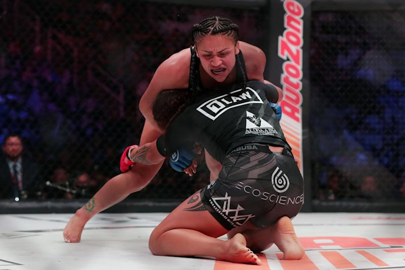 Bellator 220 Veta Arteaga Suffers Massive Forehead Cut