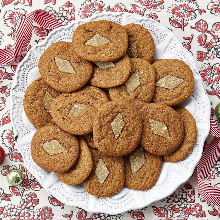 """<p>These gingerbread cookies will make your holiday table truly shine thanks to the slices of crystalized ginger on top. </p><p><a href=""""https://www.thepioneerwoman.com/food-cooking/recipes/a34763440/gingerbread-slice-and-bake-cookies/"""" rel=""""nofollow noopener"""" target=""""_blank"""" data-ylk=""""slk:Get Ree's recipe."""" class=""""link rapid-noclick-resp""""><strong>Get Ree's recipe. </strong></a></p><p><a class=""""link rapid-noclick-resp"""" href=""""https://go.redirectingat.com?id=74968X1596630&url=https%3A%2F%2Fwww.walmart.com%2Fsearch%3Fq%3Dhand%2Bmixer&sref=https%3A%2F%2Fwww.thepioneerwoman.com%2Ffood-cooking%2Fmeals-menus%2Fg37691893%2Fwinter-desserts%2F"""" rel=""""nofollow noopener"""" target=""""_blank"""" data-ylk=""""slk:SHOP HAND MIXERS"""">SHOP HAND MIXERS</a></p>"""