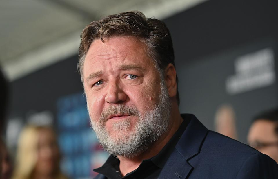 Russell Crowe attends the Showtime limited series premiere of