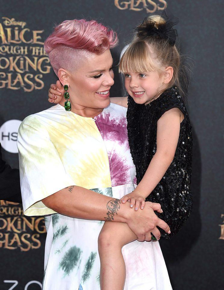 Pink and Willow on the red carpet in May. (Photo: Axelle/Bauer-Griffin/FilmMagic)