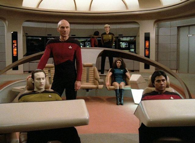 Captain Jean-Luc Picard leading his team. (Photo: CBS)