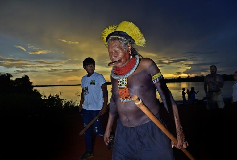 Chief Raoni Metuktire (pictured January 2020) is the latest figure to accuse Brazilian President Jair Bolsonaro of distorting the truth in his speech to the United Nations