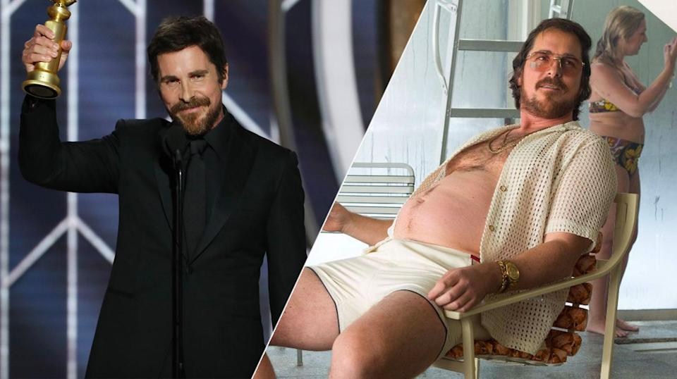 Christian Bale herniated a disc getting plump for <i>American Hustle</i>.