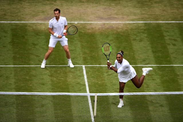 Williams and Murray in action during the win. (Photo by Shaun Botterill/Getty Images)