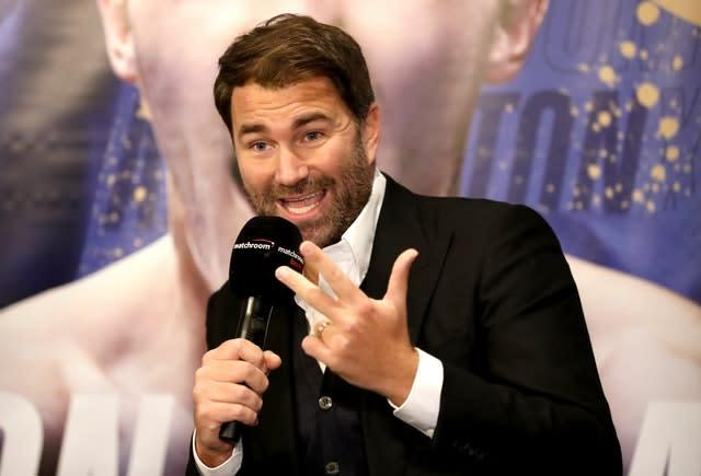 Eddie Hearn is close to landing a bout between Josh Warrington and Can Xu (Bradley Collyer/PA)