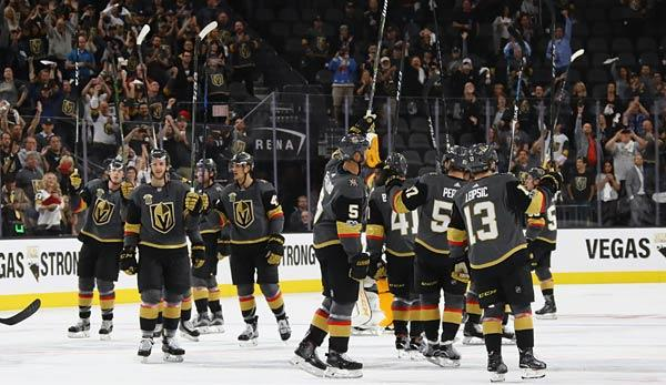 NHL: Golden Knights gewinnen Heimpremiere