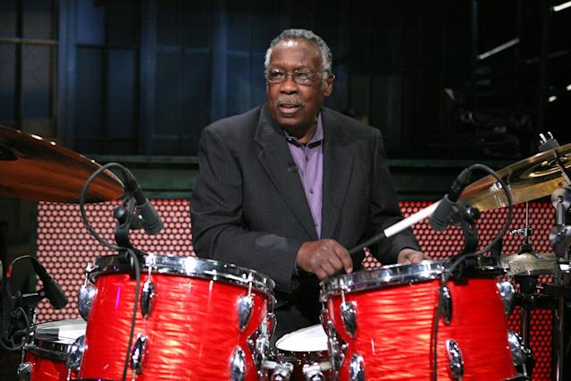 <p>Clyde Stubblefield was a drummer best known for his work with James Brown. He died Feb. 18 of kidney failure. He was 73.<br> (Photo: Lloyd Bishop/NBC/NBCU Photo Bank via Getty Images) </p>