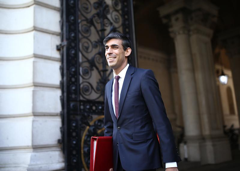 Chancellor of the Exchequer Rishi Sunak arrives in Downing Street, London, as the UK remains in lockdown to prevent the spread of the coronavirus.