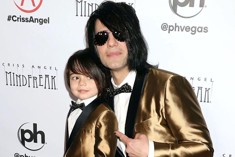 Criss Angel with son Johnny Crisstopher | Broadimage/Shutterstock