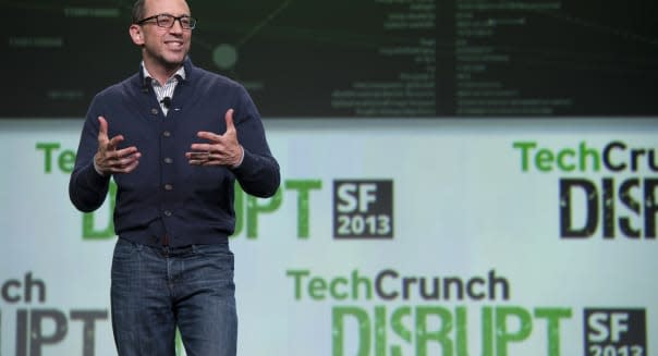 Dick Costolo, chief executive officer of Twitter Inc., speaks at the TechCrunch Disrupt SF 2013 conference in San Francisco