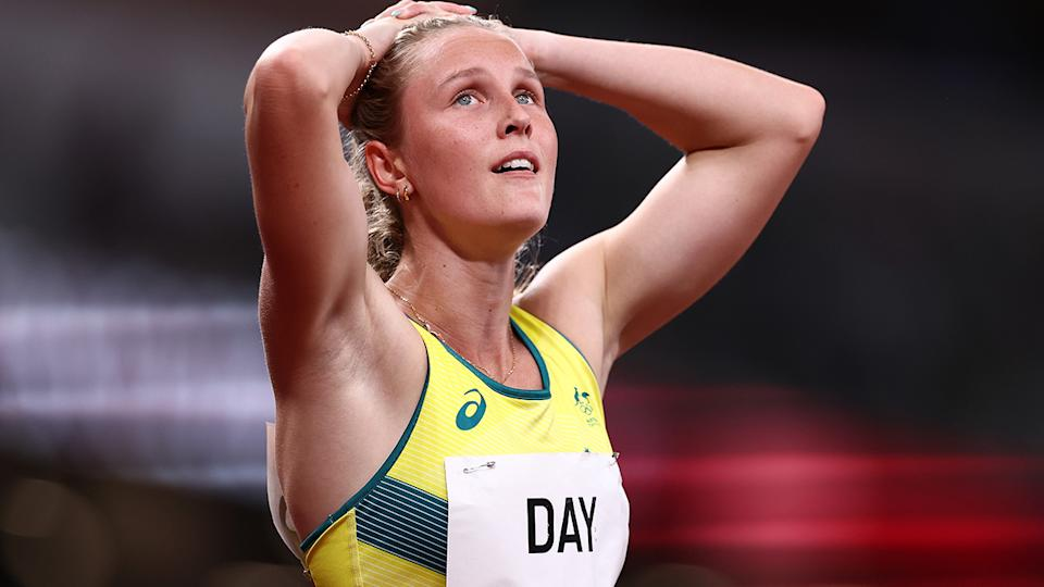Riley Day, pictured here in action in the 200m at the Tokyo Olympics.
