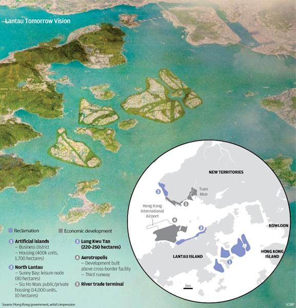 Hong Kong reclamation plan could earn city HK$1.6 trillion, claims consultant to group that wanted project to be even bigger