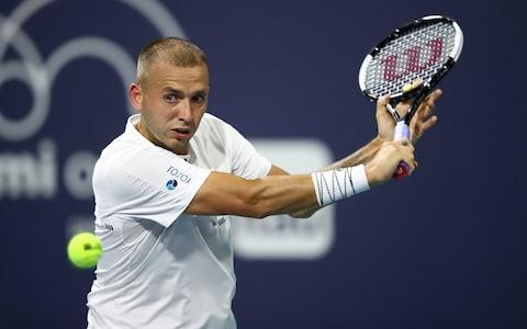 <span>Dan Evans dropped just two games against Malek Jaziri</span> <span>Credit: &nbsp;Getty Images </span>