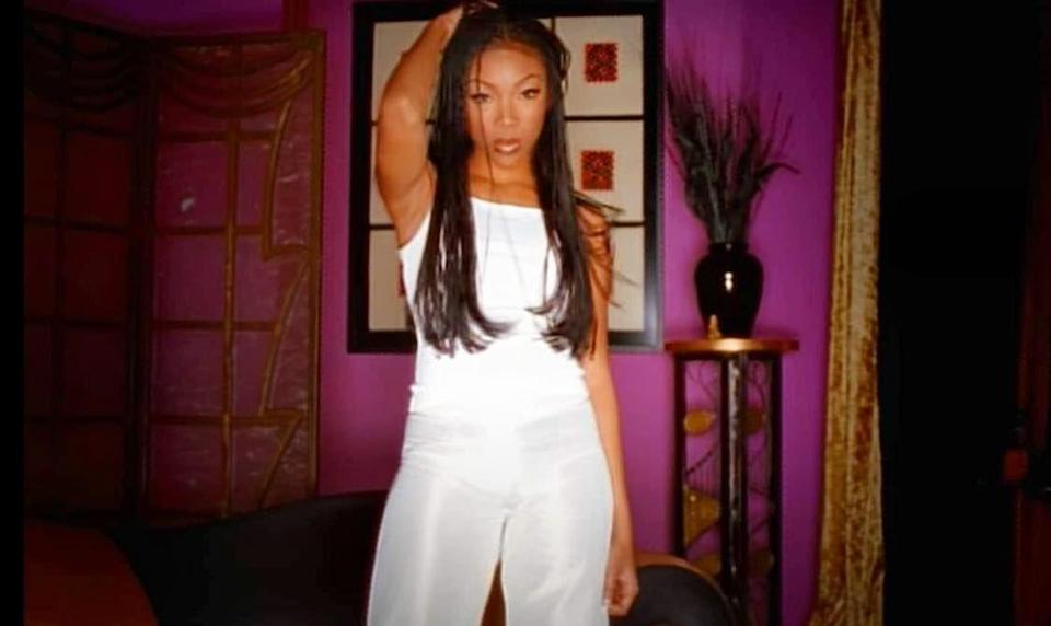 """<p>In the music video for Brandy & Monica's """"The Boy Is Mine,"""" the two singers can be seen in vibrantly painted rooms—think turquoise and fuschia—throughout. This video received two nominations at the 1998 MTV Video Music Awards: Best R&B Video and Video of the Year. Watch it <a href=""""https://www.youtube.com/watch?v=qSIOp_K5GMw"""" rel=""""nofollow noopener"""" target=""""_blank"""" data-ylk=""""slk:here"""" class=""""link rapid-noclick-resp"""">here</a>.</p>"""