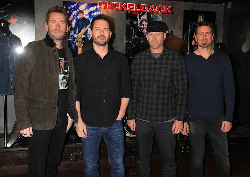 Photo by: Raoul Gatchalian/STAR MAX/IPx 2017 2/22/18 NICKELBACK unveils exclusive memorabilia case at Hard Rock Hotel & Casino. (Las Vegas, Nevada)