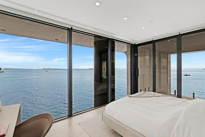 View of the expansive master bedroom inside the Arkup.