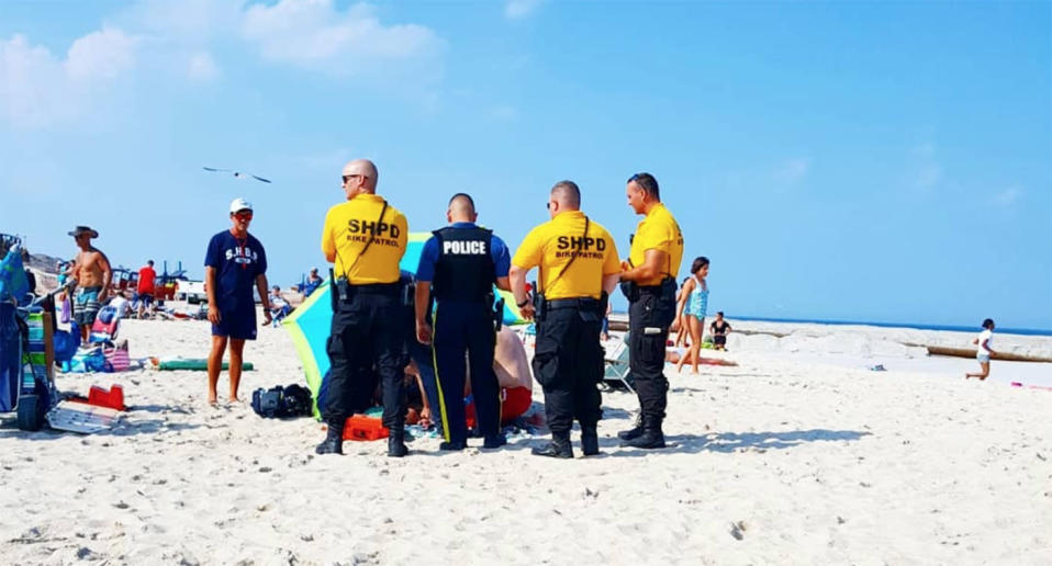 A woman has been impaled by part of a beach umbrella in Seaside Heights, New Jersey.