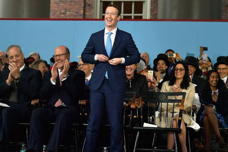 Facebook Founder and CEO Mark Zuckerberg at Harvard's 366th commencement exercises on May 25, 2017 in Cambridge, Massachusetts. (Paul Marotta/Getty Images)