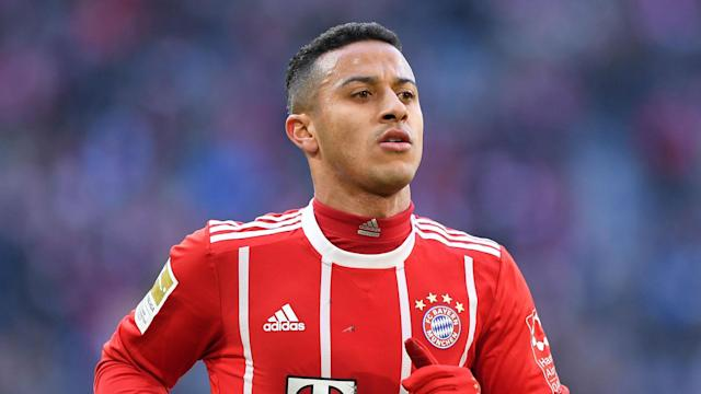 Bayern Munich will only be without Thiago Alcantara for a short spell after he stretched tendons in the sole of his left foot on Wednesday.