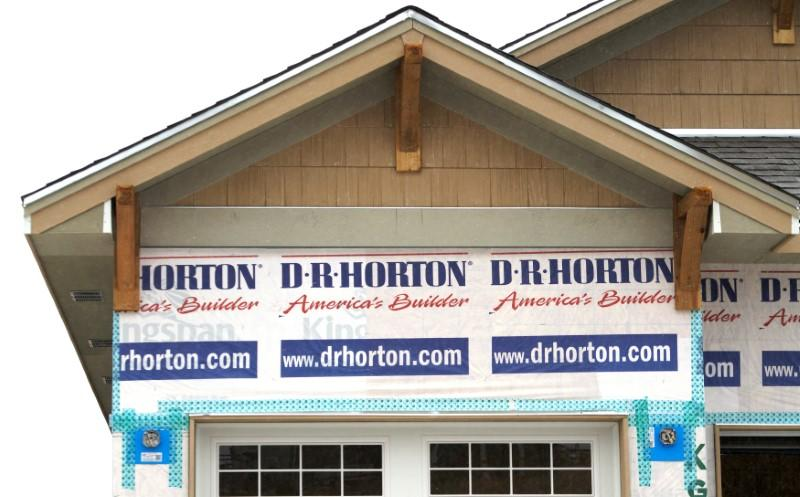 FILE PHOTO: A house built by the D.R. Horton company is seen for sale in Arvada