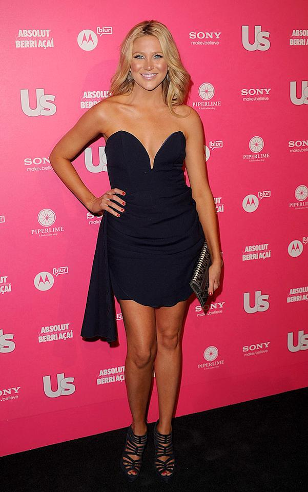 "Audrina's co-star Stephanie Pratt popped a pose in a dress by Jen Awad. The ""Hills"" star admitted to <a href=""http://www.usmagazine.com/stylebeauty/photos/hot-hollywood-red-carpet-2010-2010234/7885"" target=""new"">Us Weekly</a> that being on the reality series has really helped her when it comes to her style and appearance. Jason Merritt/<a href=""http://www.gettyimages.com/"" target=""new"">GettyImages.com</a> - April 22, 2010"
