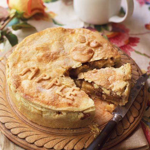 """<p>This traditional dessert is an ideal winter warmer. A cinnamon spiced <a href=""""https://www.goodhousekeeping.com/uk/food/recipes/a560395/apple-crumble-recipe/"""" rel=""""nofollow noopener"""" target=""""_blank"""" data-ylk=""""slk:apple"""" class=""""link rapid-noclick-resp"""">apple</a> and sultana centre is enveloped with a buttery <a href=""""https://www.goodhousekeeping.com/uk/food/a563858/how-to-avoid-crumbly-pastry-cracks/"""" rel=""""nofollow noopener"""" target=""""_blank"""" data-ylk=""""slk:pastry"""" class=""""link rapid-noclick-resp"""">pastry</a>, perfect served with a dash of cream! </p><p><strong>Recipe: <a href=""""https://www.goodhousekeeping.com/uk/food/recipes/a535472/proper-apple-pie-recipe/"""" rel=""""nofollow noopener"""" target=""""_blank"""" data-ylk=""""slk:Classic Apple Pie"""" class=""""link rapid-noclick-resp"""">Classic Apple Pie</a></strong></p>"""