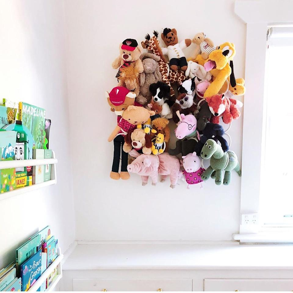 IKEA hangers to create space for soft toys
