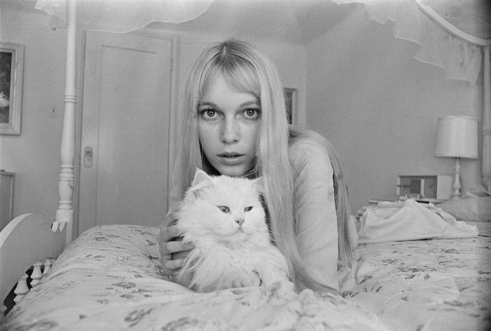 <p>Although acting was her main ambition, Farrow got her start modeling in the early '60s. Her long blonde hair made her the picture of the decade's flower child movement. </p>