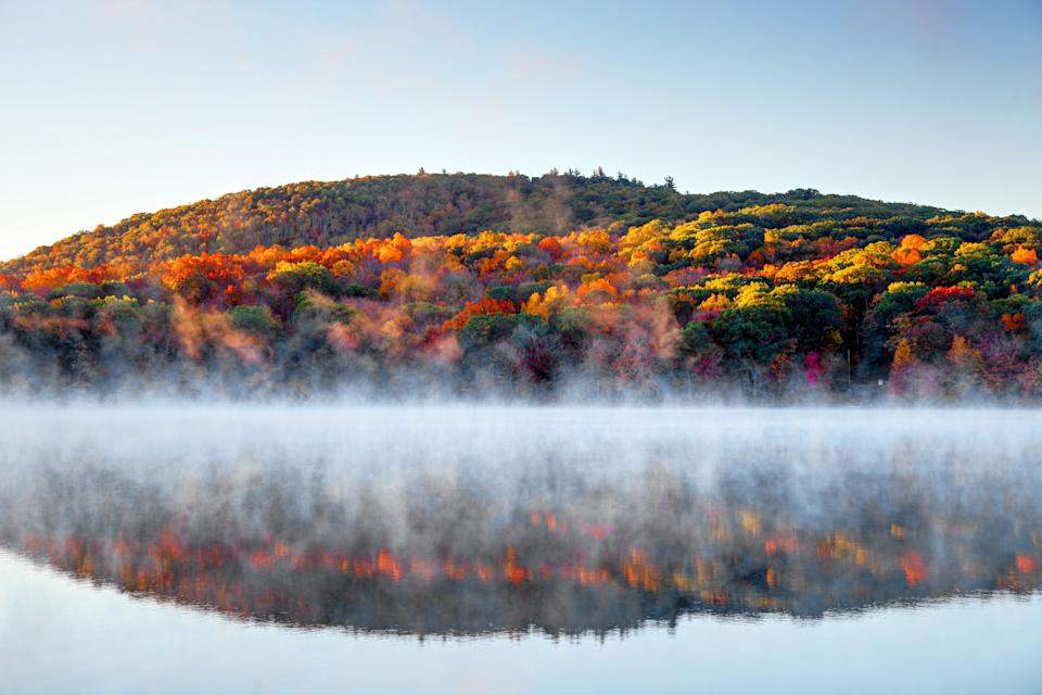 "<p><strong>Best thing to do in Connecticut:</strong> Take a fall foliage-themed river cruise </p> <p>Connecticut often plays second fiddle to Vermont and Massachusetts when it comes to <a href=""https://www.cntraveler.com/gallery/where-to-see-the-best-fall-foliage-in-new-england?mbid=synd_yahoo_rss"" rel=""nofollow noopener"" target=""_blank"" data-ylk=""slk:fall foliage"" class=""link rapid-noclick-resp"">fall foliage</a>, but don't write off this New England destination quite yet. The state's northwest is filled with state parks and hiking trails just begging to be photographed, like Mt. Tom State Park and the Deer Pond Farm Sanctuary in Sherman. Even procrastinators can get in on the action around coastal Connecticut, where the leaves change color about two weeks later than the north. if hiking isn't really your thing, take a foliage-themed cruise down the Connecticut River with River Quest. (Pro tip: Make <a href=""https://www.cntraveler.com/hotels/united-states/morris/winvian-litchfield-hills?mbid=synd_yahoo_rss"" rel=""nofollow noopener"" target=""_blank"" data-ylk=""slk:Winvian Farm"" class=""link rapid-noclick-resp"">Winvian Farm</a>, a luxurious 18-chalet retreat, your home base.)</p>"