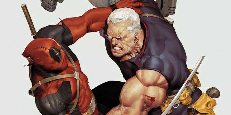 Deadpool and Cable coming to blows in the comics (Credit: Marvel Comics)