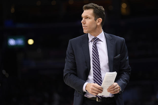 A sexual assault lawsuit against Luke Walton has been dropped. (AP Photo/Nick Wass)