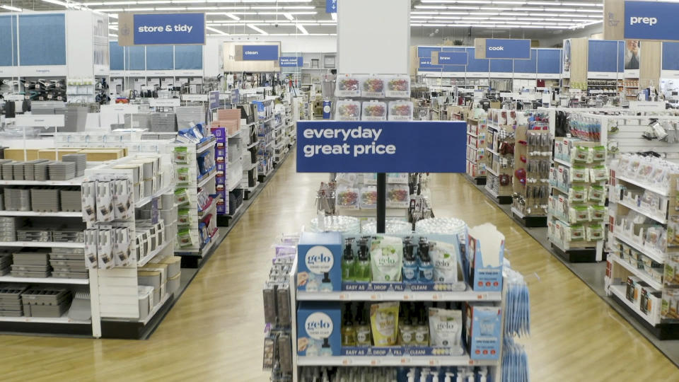 This photo provided by Bed Bath & Beyond shows store brands on display at Bed Bath & Beyond in Watchung, N.J. The New Jersey-based retailer plans to unveil at least eight new store brands this fiscal year, with six of them being unveiled in the first six months of the year. The company will also launch thousands of new products available only at the retailer as it seeks to take a bigger share of the $180 billion home market. (Bed Bath & Beyond via AP)