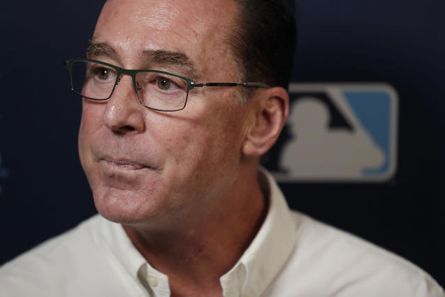 Oakland Athletics manager Bob Melvin listens to a question during the Major League Baseball winter meetings Monday, Dec. 9, 2019, in San Diego. (AP Photo/Gregory Bull)